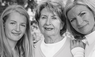 3 generations of women