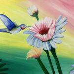 Painting of hummingbird